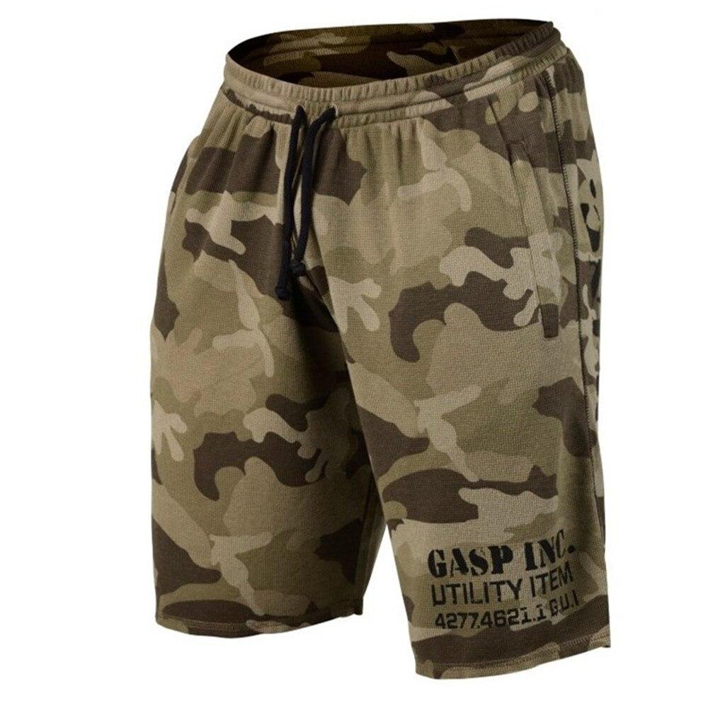 Мужские военные Маскировочные шорты 2019, новый стиль, спортивные шорты для фитнеса, летние свободные штаны с высокой талией, 5 точек