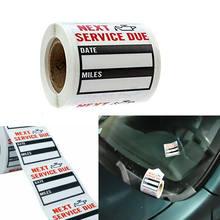 5 pçs adesivos mudança de óleo lembrete de serviço etiqueta mudança de óleo adesivos mudanças de óleo etiquetas adesivas carro acessórios exrerior