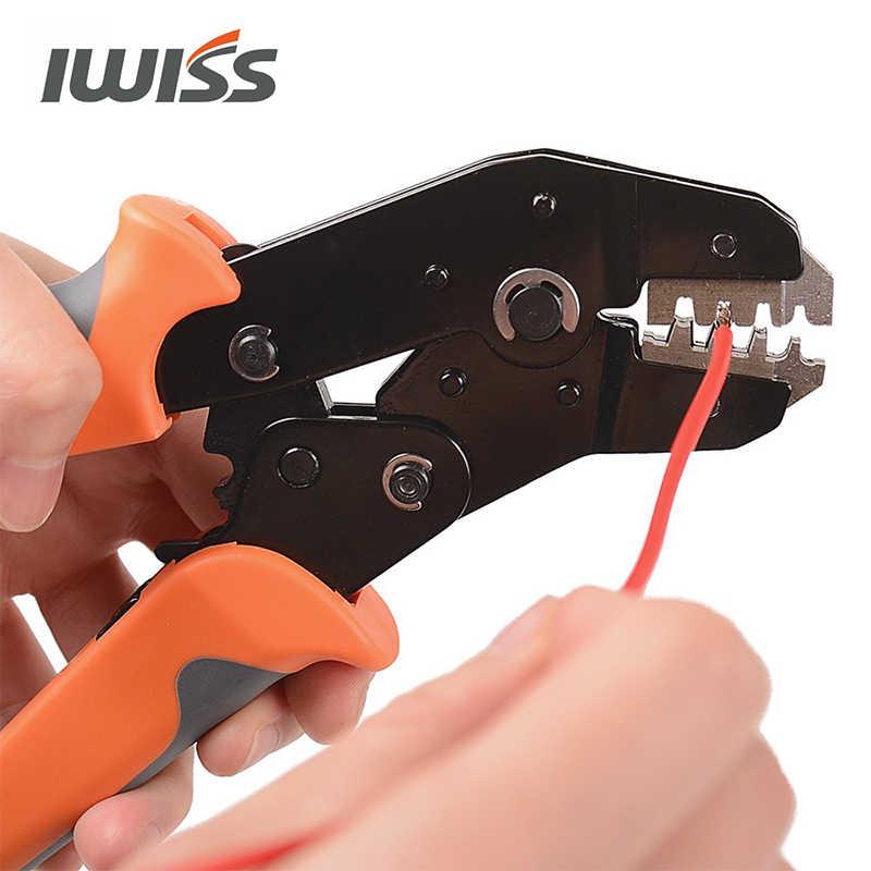 IWISS SN-2549 أدوات تجعيد ل XH2.54/Dupont 2.54/2.8/3.0/3.96/4.8/KF2510/JST موصل طرفي المكشكش ذو طيات