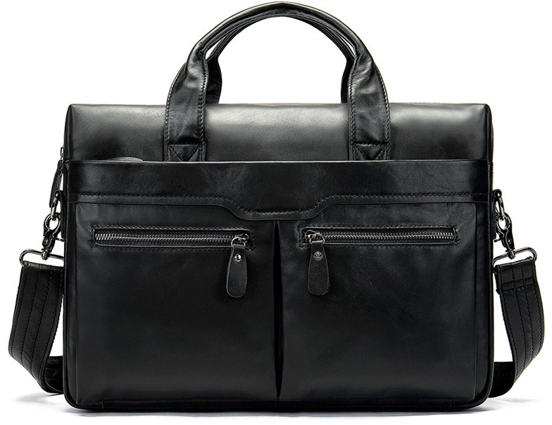 Genuine Leather Brown Briefcase Business Travel Handbag Laptop Bags