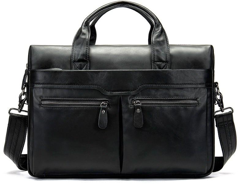 Genuine Leather Brown Briefcase Business Travel Handbag Laptop Bags