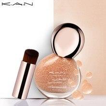 Kan macio matte longa duração fundação líquido rosto maquiagem cobertura corretivo óleo-controle creme impecável naturalmente fundação