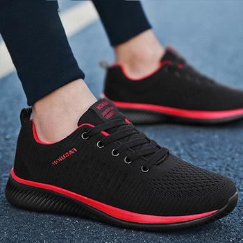 Men Casual Shoes Sneakers Summer Flying Fabric Lac-up Lightweight Comfortable Breathable Walking Plus Size 2020 New Mesh Men