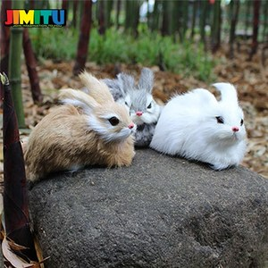 Image 4 - 15CM Mini Cute Rabbits/Chicks Plush Toys Fur Lifelike Animal Easter Bunny Simulation Rabbit Toy Model Birthday Gift