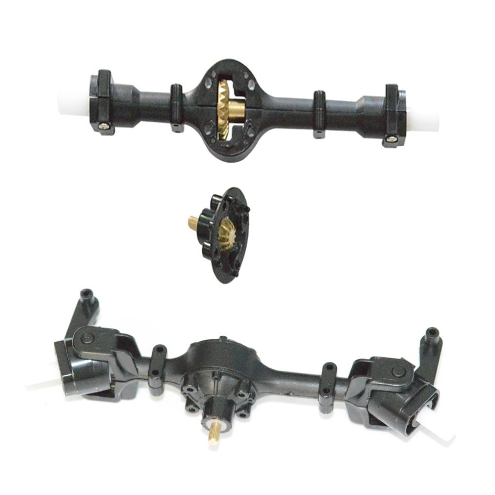 Metal Gear Sturdy Front/Rear Axle Assembly Spare Part For WPL B36 B16 Toys For Children High Quality RC Car Parts