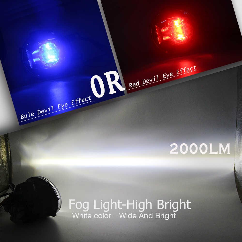Buildreamen2 For Toyota Avalon 2008 2009 2010 Car Styling H11 LED Lamp Fog Light Devil Eye DRL 4000LM 12V 2 Pieces