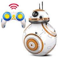 Mejora inteligente Star Wars RC BB 8 2,4G Control remoto con acción de sonido figura de balón Droid Robot BB-8 modelo juguetes para niños