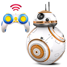 Upgrade inteligentny Star Wars RC BB 8 2 4G pilot z dźwiękiem figurka Ball Droid Robot BB-8 zabawki modele dla dzieci tanie tanio luck city Żołnierz gotowy produkt Wyroby gotowe Unisex Jeden rozmiar Please stay away from the fire About 11x11x15cm 1 60