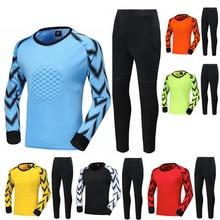 Трикотажный костюм голкипера с длинными рукавами для взрослых мальчиков, футболка для матча футбольного вратаря осень/зима