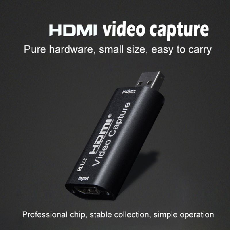 Mini Video Capture Card Usb 2.0 Hdmi Video Grabber Record Box For Ps4 Game Dvd Camcorder Camera Recording Live Streaming