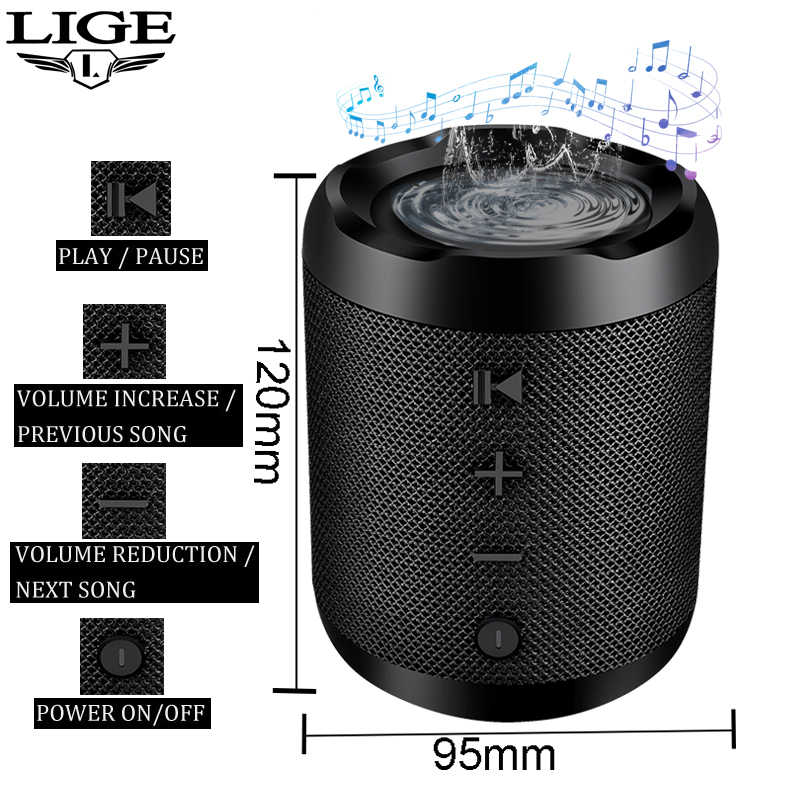 Ini Baru Portable Bluetooth Speaker Sound System Portable 10W Stereo Musik Surround Tahan Air Luar Ruangan Speaker TF USB AUX + kotak