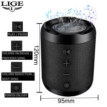 LIGE New Portable Bluetooth speaker Portable Sound System 10W stereo music surround Waterproof Outdoor Speaker TF USB AUX +Box(China)