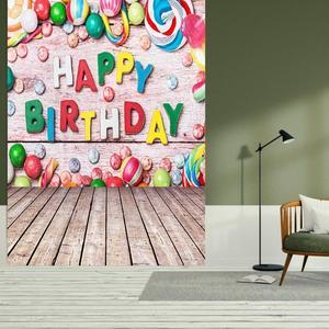 Image 5 - 0.9x1.5m fotograficzna tkanina artystyczna tło szczęśliwe zdjęcie urodzinowe tło studyjne zdjęcie rekwizytu dziecko rodzinne zdjęcie dekoracji hot
