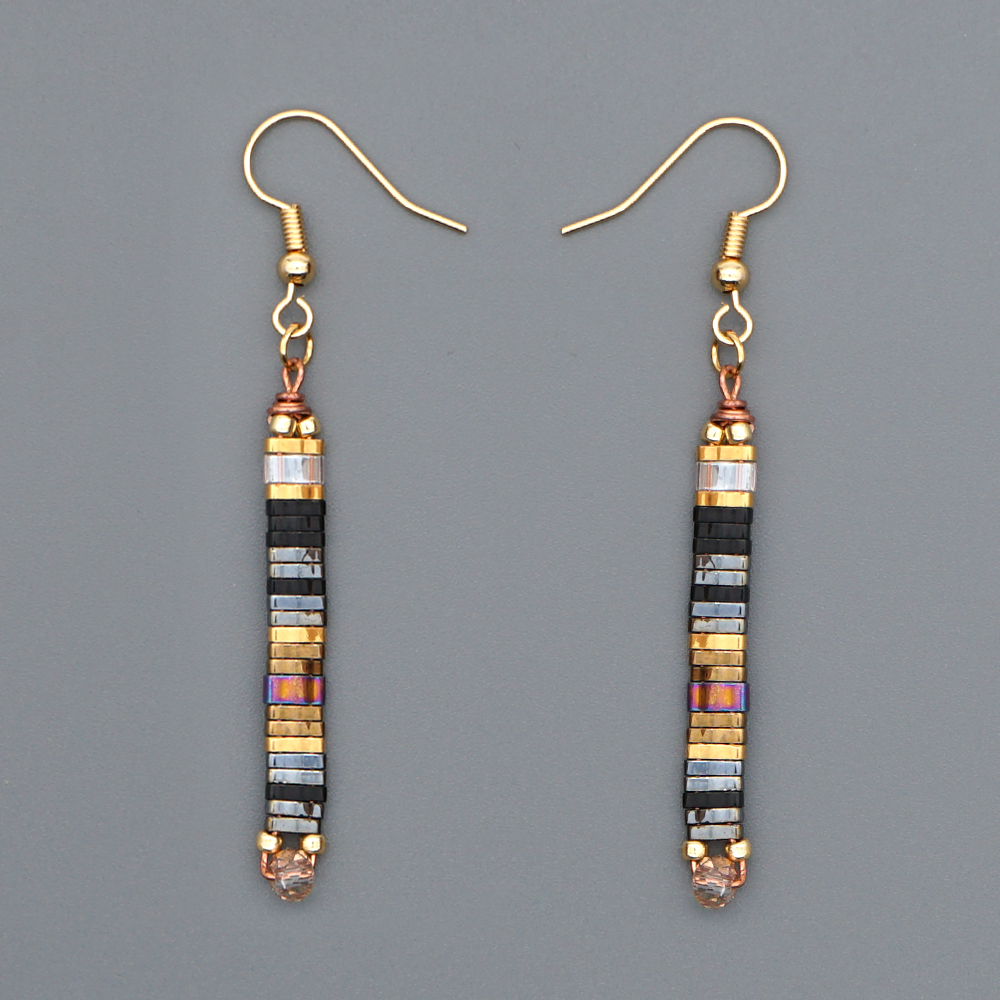 Orecchini gioielli di moda 2020 Boho MIYUKI Tila perline orecchini a goccia lunghi Bijoux Femme Bohemian Handmade Hook Link Jewelry