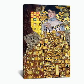 Paintings Gustav Klimt Adele Bloch Bauer Wall Art Canvas Modular Picture HD Print Posters No Frame For Living Room Home Decor image