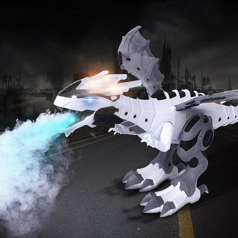 Electric Simulation Spray Dinosaurs Toys Talking Walking Spray Dinosaur Model With Light Sound Interactive Toy For Children Gift