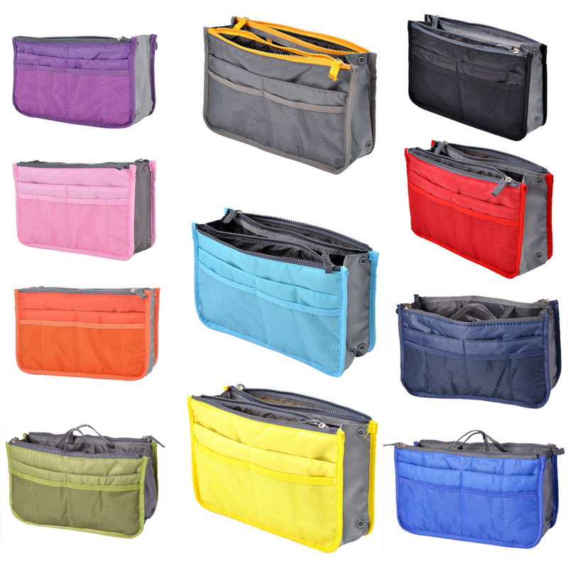 Organizer Handbag Foldable Portable Waterproof Storage Bag Double Zipper Travel Storage Holder Cosmetics Suitcase Pouch^