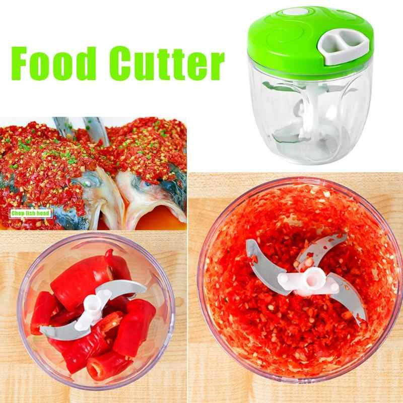 500/900ml נייד מטחנת בשר ידנית פירות ירקות מגרסה שום מבצע מסוק Mincer מיקסר בלנדר מכשירי מטבח