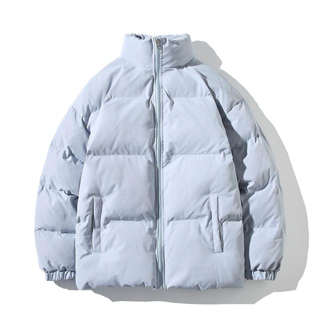 Winter Jacket Men Parkas Thicken Warm Coat Mens Stand Collar Jackets Solid Color Parka Coat Women Fashion New Streetwear 5XL 3