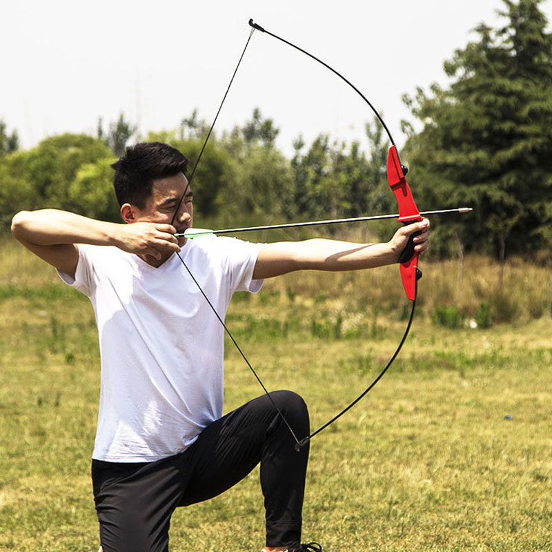 40LBS Straight Bow For Right Hand And Left Hand 50 Inches With Arrows For Youth Archery Hunting Shooting Child Recurve Bow