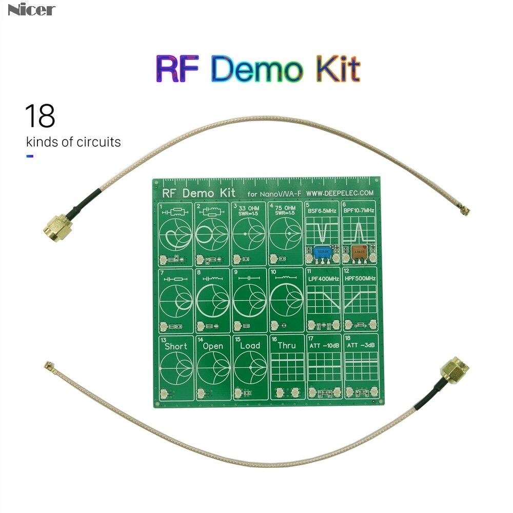 Zestaw demonstracyjny RF NanoVNA RF Tester tłumik filtra do analizatora sieci wektorowej nanovna-f
