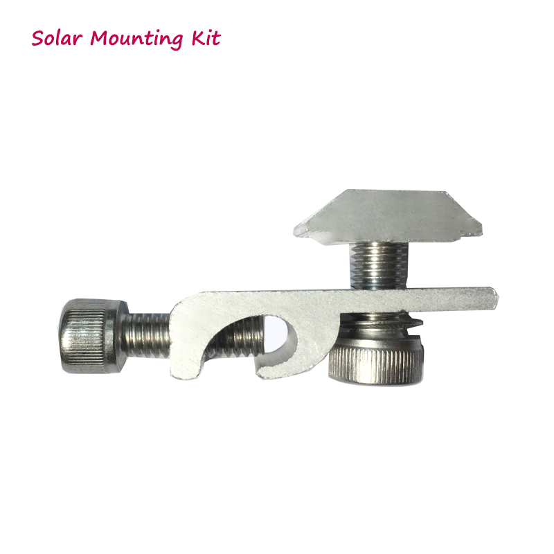 Solar Mounting Grounding Lug Aluminum Ground Clip With Screws On Mounting Rails For Solar Mounting System
