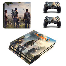 Tom Clancy's The Division 2 Style Skin Sticker for PS4 Pro Console And Controllers Decal Vinyl Skins Cover YSP4P-3323
