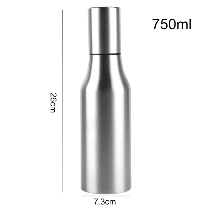 Stainless Steel Oil Bottle Leakproof Dustproof Oil Bottle With Lid Large Capacity Soy Sauce Bottle Kitchen Tool Safe Grade in Gravy Boats from Home Garden
