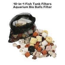 Набор контактов для тестирования 10 в 1 садок для рыбы фильтры аквариумных фильтрации био-шарики аквариумных принадлежностей для аквариумной воды фильтры для аквариума