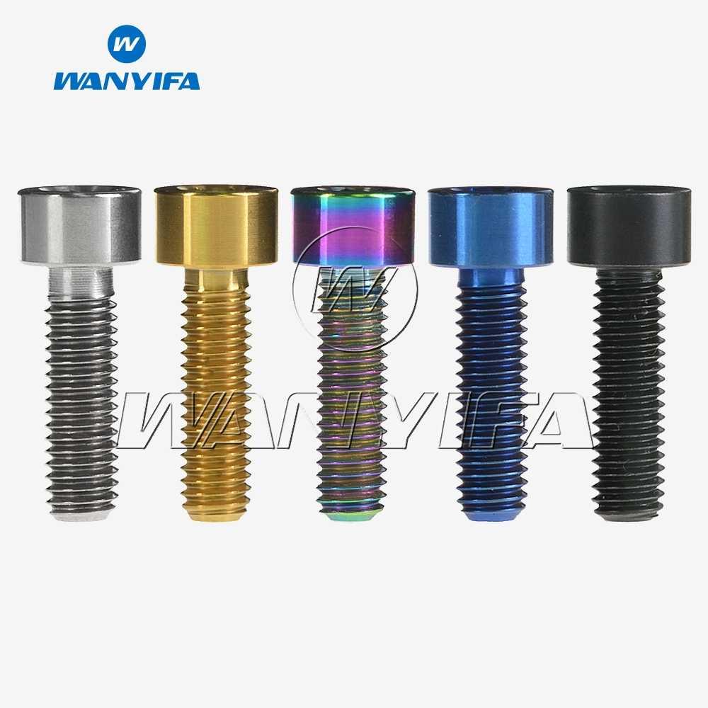 4 PCS M6x18//20//25mm GR5 Titanium Socket Cap Head Bolts /& Washer For Bicyle Stem