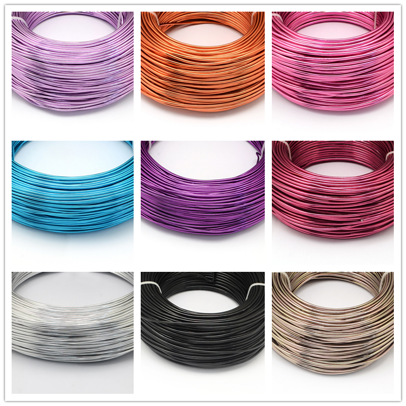 500g 0.8/1/1.5/2/3/3.5/4/5/6 Mm Aluminum Wire Jewelry Findings For Jewelry DIY Crafts Making F60