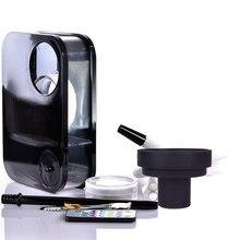 Acryl Wasserpfeife Shisha Rohr Chicha LED Licht Narguile Completo mit Nargile Schüssel Schlauch Zange Metall Holzkohle Halter Zubehör