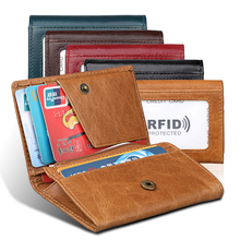 20PCS / LOT Free Engrave Genuine Leather Wallet Female Trifold Women Rfid Wallet Zipper Poucht Casual Coin Purse
