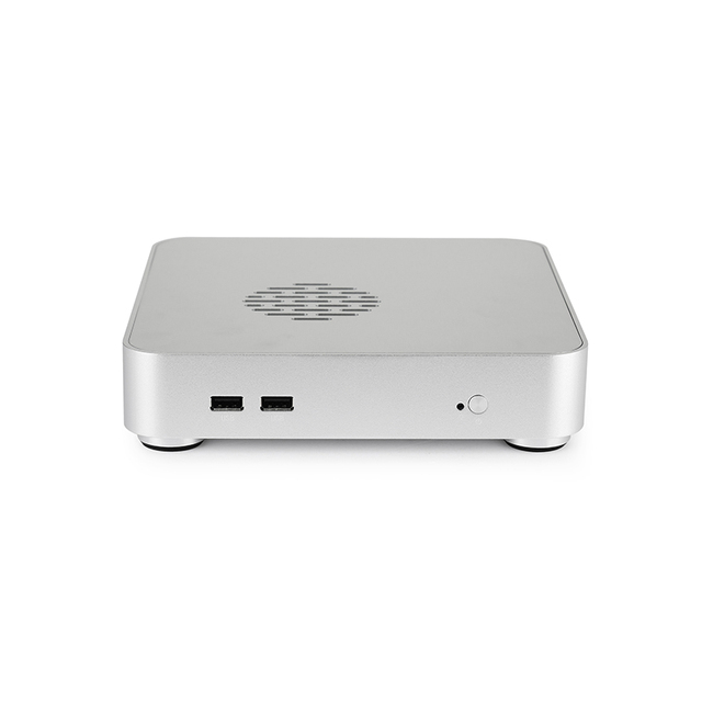 Computer Case PC Gamer Mini ITX Safe Cabinet HTPC Case Desktop Gaming All-aluminum Slim Chassis 2