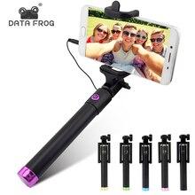 Wysuwany Selfie Stick Monopod dla Iphone Samsung Android IOS ręczny aparat składany uchwyt Mini Palo Selfie statyw 27.5cm 80cm