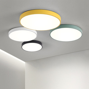Image 3 - Ultra thin Ceiling Lights Creative Colored Circular LED Ceiling Lamps Childrens Room Lighting Kindergarten Exhibition Hall Lamp