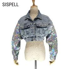 Женское джинсовое пальто sispell повседневное Укороченное с