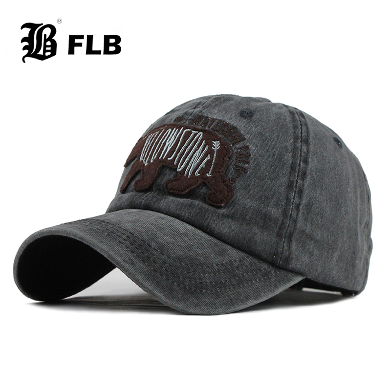 [FLB] Cotton Baseball Cap Women Embroidery Bear Cap Snapback Hat For Men Casquette Homme Gorras Bone Cap For Women F602