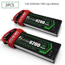 GTFDR 2S 7.4V 6200mah 100C-200C Lipo Battery 2S XT60 T Deans XT90 EC5 For FPV Drone Airplane Car Racing Truck Boat RC Parts(China)