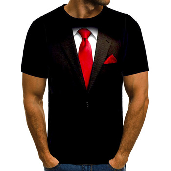 Camiseta de UNEY con traje de broma para hombre, camiseta divertida de talla estadounidense, en 3D Camiseta con estampado, camisetas de manga corta, camiseta con pintura interesante