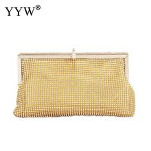Gold Fashion Women Bridesmaid Wedding Purse Lady Girl Bride Evening Party Clutch Bag For Prom Cocktail Engagement