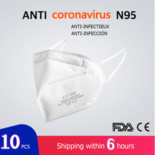 HOT 10 pcs surgical N95 mask CE FDA Certification Face Anti Influenza Mouth Masks Same Protective as KF94 FFP2