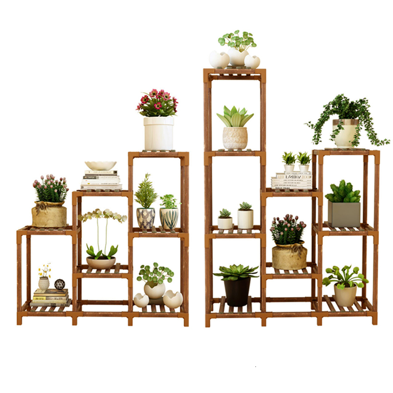 Indoor Balcony Solid Wood Quality Storage Rack A Living Room Botany Flowerpot Frame To Ground Meaty Green Luo Simple And Easy