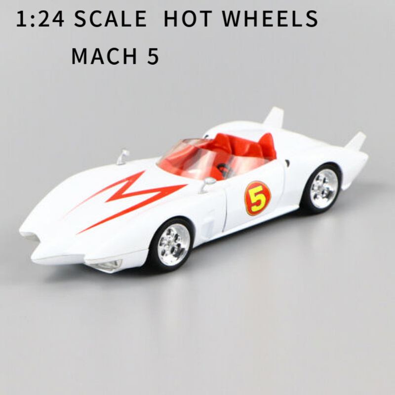 1/24 HOTWHEELS METEORO MACH 5 MENTAL DE VACIADO DE CALIDAD <font><b>CAR</b></font> <font><b>MODEL</b></font> SPEED RACER image