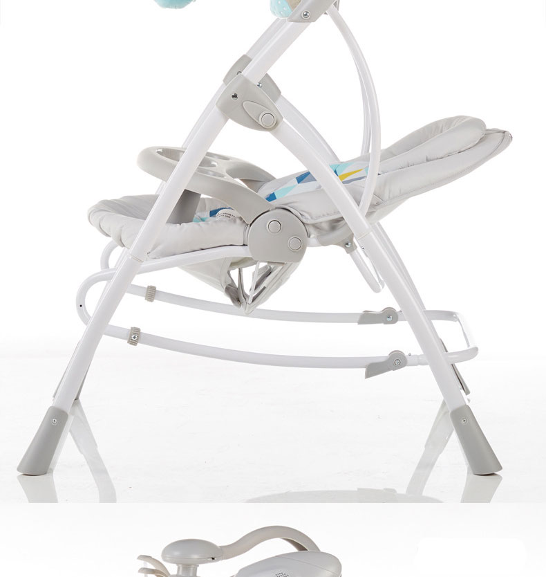 H134b06f7f56048f7ad7d6347ad06581fM baby rocking chair baby electric rocking chair to appease the cradle bed Children's dining chair rocking chair with remote cont