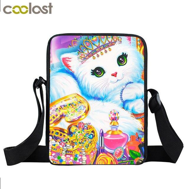 Наплечная Сумка с единорогом, женские сумки-Кроссбоди с рисунком пони, школьная сумка для мальчиков и девочек, мини-сумка-мессенджер, детски...