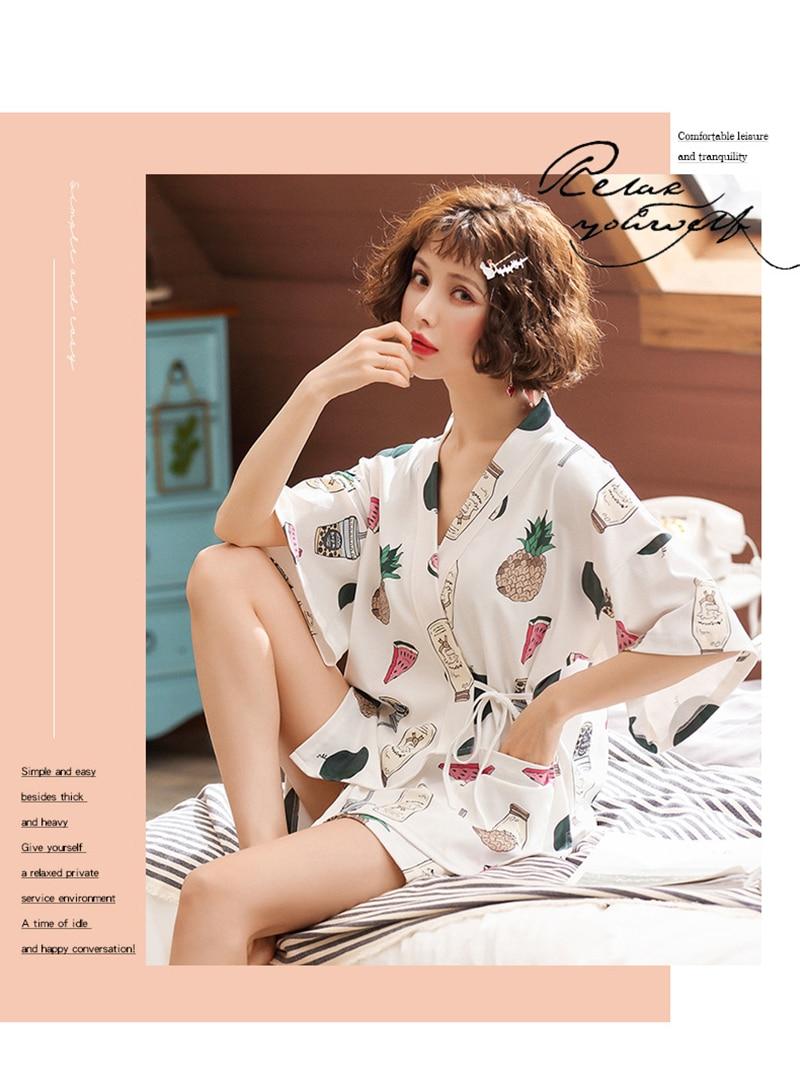 sleepwear impresso shorts para o sexo feminino