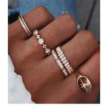 NEWBUY 6Pcs/set Classic Design Women Midi Knuckle Ring Hot Sale