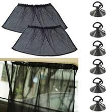 40cm x 80cm janela do carro pára-sol cortina de proteção uv com ventosas respirável universal carro pára-sol-estilo