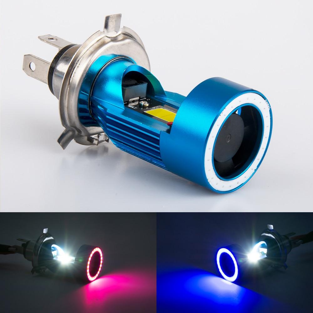 1 Pza 12 ~ 80V BA20D LED H6 P15D HS1 H4 Led faro de motocicleta H6/lo haz de luz de Ángel